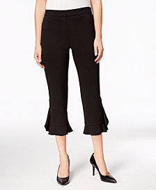Alfani Ruffle-Hem Pants, Created for Macy's
