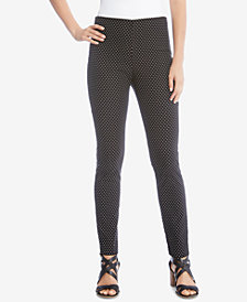 Karen Kane Mini Dot Piper Skinny Pants