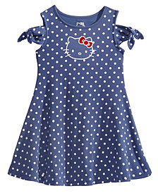 Hello Kitty Cold Shoulder Dot-Print Dress, Toddler Girls