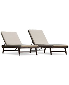 Avalon Outdoor Adjustable Chaise Lounge (Set Of 2), Quick Ship