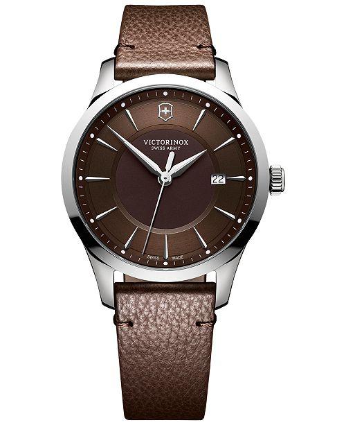 cuir homme Swiss Montre marron Bijoux Victorinox brun Alliance pour Montre en 40mmCommentaires Army 6yfvIbYm7g