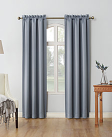 "Sun Zero Shaw 80"" x 84"" Theater Grade Extreme Blackout Rod Pocket Curtain Panel Pair"