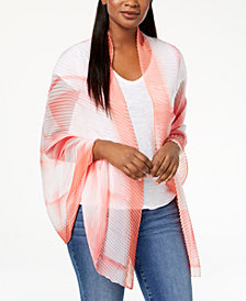 I.N.C. Ombré Geo Pleated Wrap, Created for Macy's