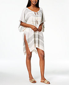 I.N.C. Textured Woven Stripe Cover-Up, Created for Macy's