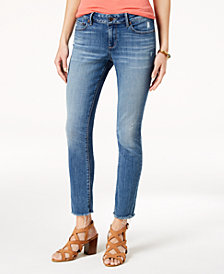 Lucky Brand Lolita Frayed-Cuff Skinny Jeans