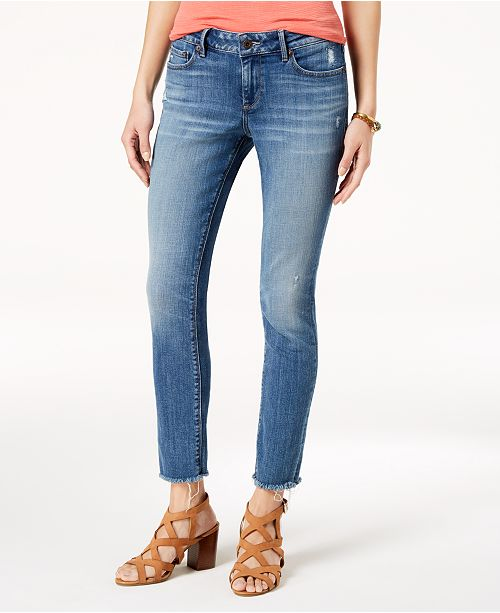 8a7a9fb0d90 Lucky Brand Lolita Frayed-Cuff Skinny Jeans   Reviews - Jeans ...