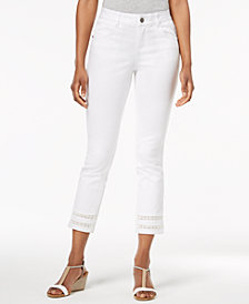 Style & Co Crochet-Cuff Capri Pants, Created for Macy's