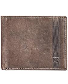 Kenneth Cole Reaction Men's Danforth Slim Bifold Leather Wallet