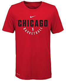 Nike Chicago Bulls Elite Practice T-Shirt, Big Boys (8-20)