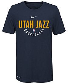 Nike Utah Jazz Elite Practice T-Shirt, Big Boys (8-20)