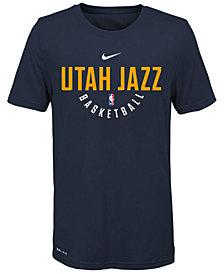 Nike Utah Jazz Elite Practice T-Shirt, Big Boys (8-20)