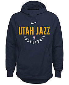 Nike Utah Jazz Elite Practice Hoodie, Big Boys (8-20)