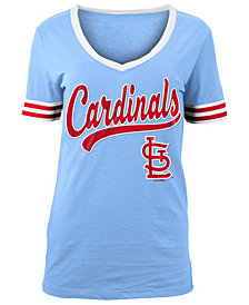 5th & Ocean Women's St. Louis Cardinals Retro V-Neck T-Shirt