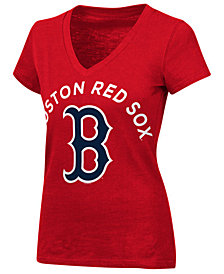 G-III Sports Women's Boston Red Sox Classic Logo V-Neck T-Shirt