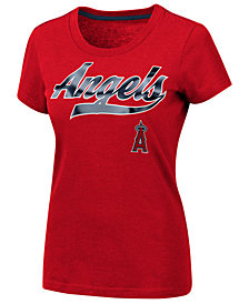 G-III Sports Women's Los Angeles Angels Script Foil T-Shirt