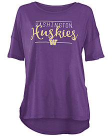 Royce Apparel Inc Women's Washington Huskies Hip Script Modal Crew T-Shirt