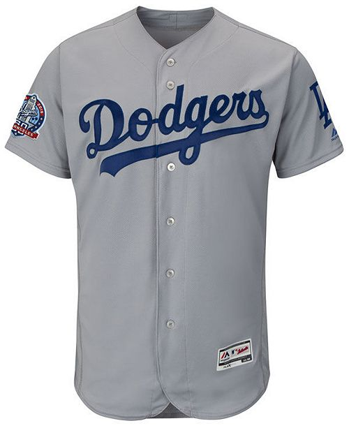 ... Majestic Men s Los Angeles Dodgers Flexbase 60th Anniversary Patch  Jersey ... 932a5f00782