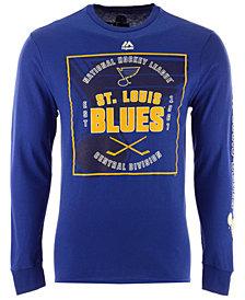 Majestic Men's St. Louis Blues Keep Score Long Sleeve T-Shirt