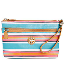 Giani Bernini Coated Canvas Wristlet, Created for Macy's