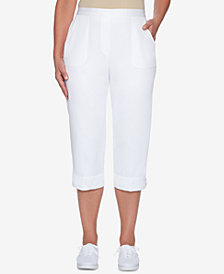 Alfred Dunner America's Cup Laced-Hem Pull-On Capri Pants