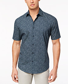 Alfani Men's Flat Collar Printed Shirt, Created for Macy's