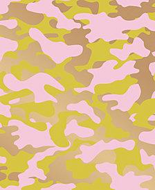 Cynthia Rowley for Tempaper Glammo Pink, Lemon & Gold Self-Adhesive Wallpaper