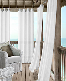 Elrene Bali Sheer Indoor/Outdoor Grommet Curtain Panels with Tiebacks