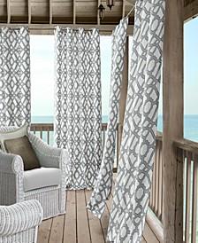 "Marin 50"" x 95"" Indoor/Outdoor Water-Repellent Grommet Curtain Panel with 50+ UV Protection"