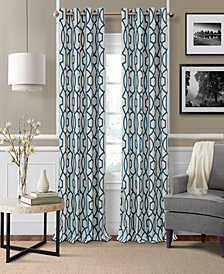 "Elrene Celeste 52"" x 84"" Textured Ironwork Blackout Grommet Curtain Panel"