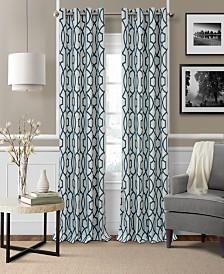 """Elrene Celeste 52"""" x 95"""" Textured Ironwork Blackout Grommet Curtain Panel"""