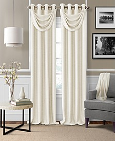 Brooke Faux-Silk Blackout Grommet Curtain Panel & Valance Collection