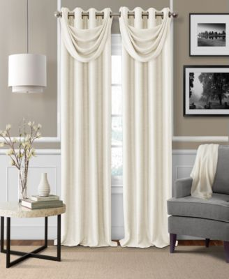 Elrene Brooke Faux Silk Blackout Grommet Curtain Panel U0026 Valance Collection