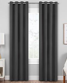 Hudson Hill Raw Faux-Silk Grommet Window Panels