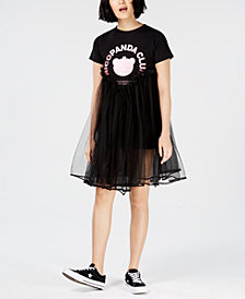 NICOPANDA Tulle T-Shirt Dress, Created for Macy's