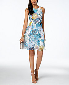 Adrianna Papell Printed Fit & Flare Dress