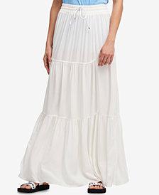 DKNY Drawstring A-Line Maxi Skirt