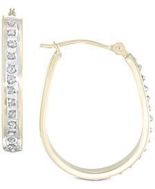 Diamond Accent Pear-Shape Hoop Earrings