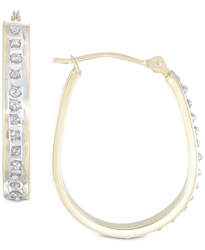 Diamond Fascination™ Diamond Accent Pear-Shape Hoop Earrings