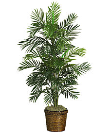 Nearly Natural 4.5' Areca Palm Tree with Wicker Basket