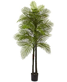 Nearly Natural 7' Double Robellini Palm UV-Resistant Indoor/Outdoor Tree