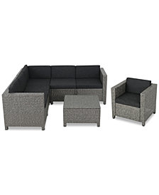 Monterey 7-Pc. Outdoor Sectional Sofa Set, Quick Ship