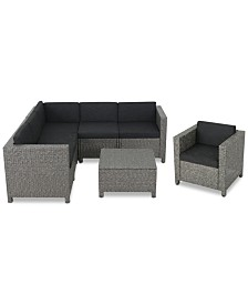 Monterey 7-Pc. Outdoor Sectional Sofa Set, Quick Ship