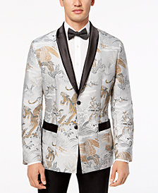 I.N.C. Men's Slim-Fit Smoking Jacket, Created for Macy's