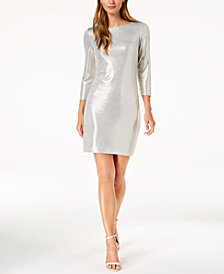 Jessica Howard Metallic Sheath Dress