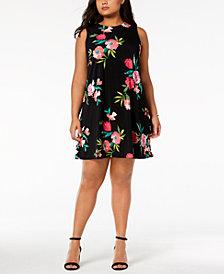 Jessica Howard Plus Size Floral-Print Shift Dress
