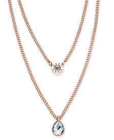 "DKNY Double Row Pendant Necklace, 16"" long + 3"" Extender, Created for Macy's"