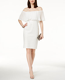 Vince Camuto Ruffled Off-The-Shoulder Sheath Dress