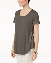 2eb65a25088a JM Collection Scoop-Neck Top, Created for Macy's