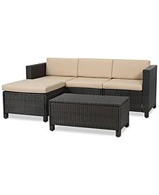 Baja Outdoor 5-Pc. Sectional Sofa Set, Quick Ship