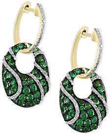 EFFY® Tsavorite (1-7/8 ct. t.w.) & Diamond (3/8 ct. t.w.) Drop Earrings in 14k Gold
